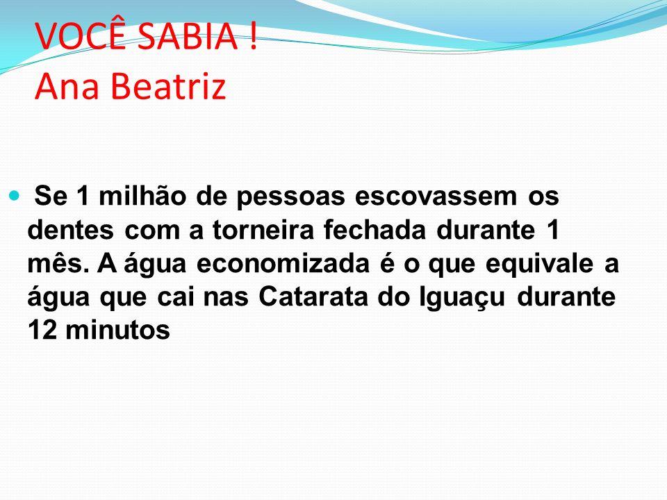 VOCÊ SABIA ! Ana Beatriz
