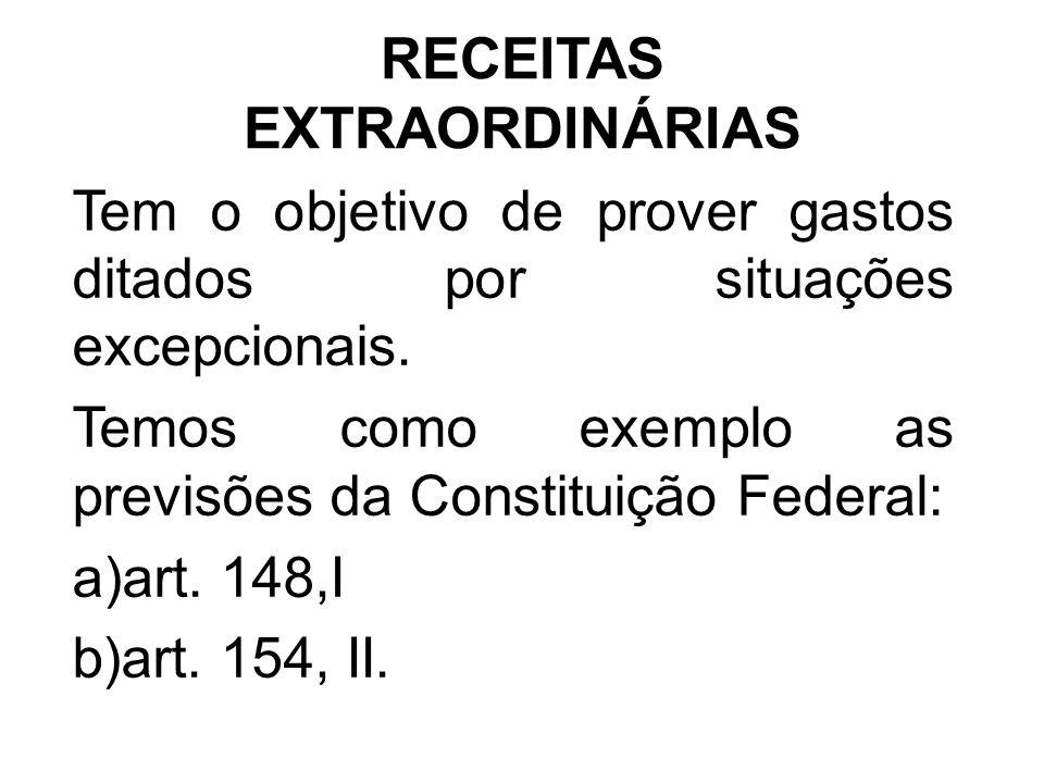 RECEITAS EXTRAORDINÁRIAS