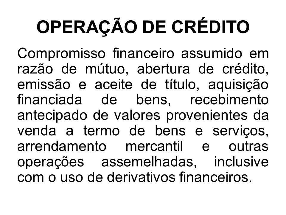 OPERAÇÃO DE CRÉDITO