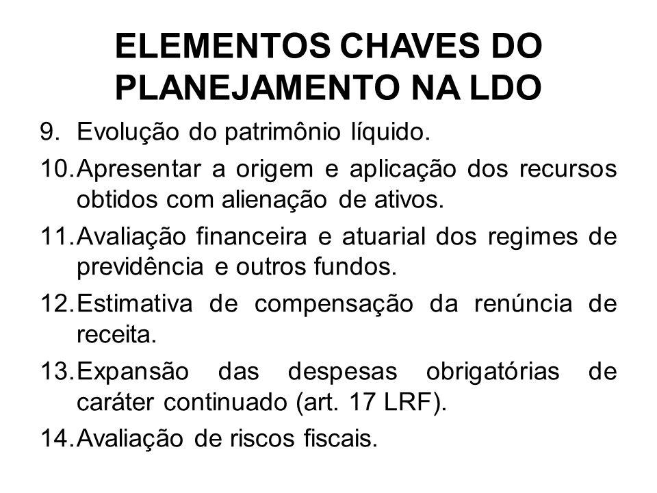 ELEMENTOS CHAVES DO PLANEJAMENTO NA LDO