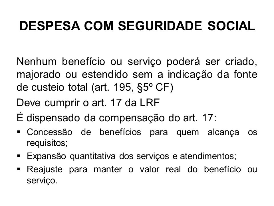 DESPESA COM SEGURIDADE SOCIAL
