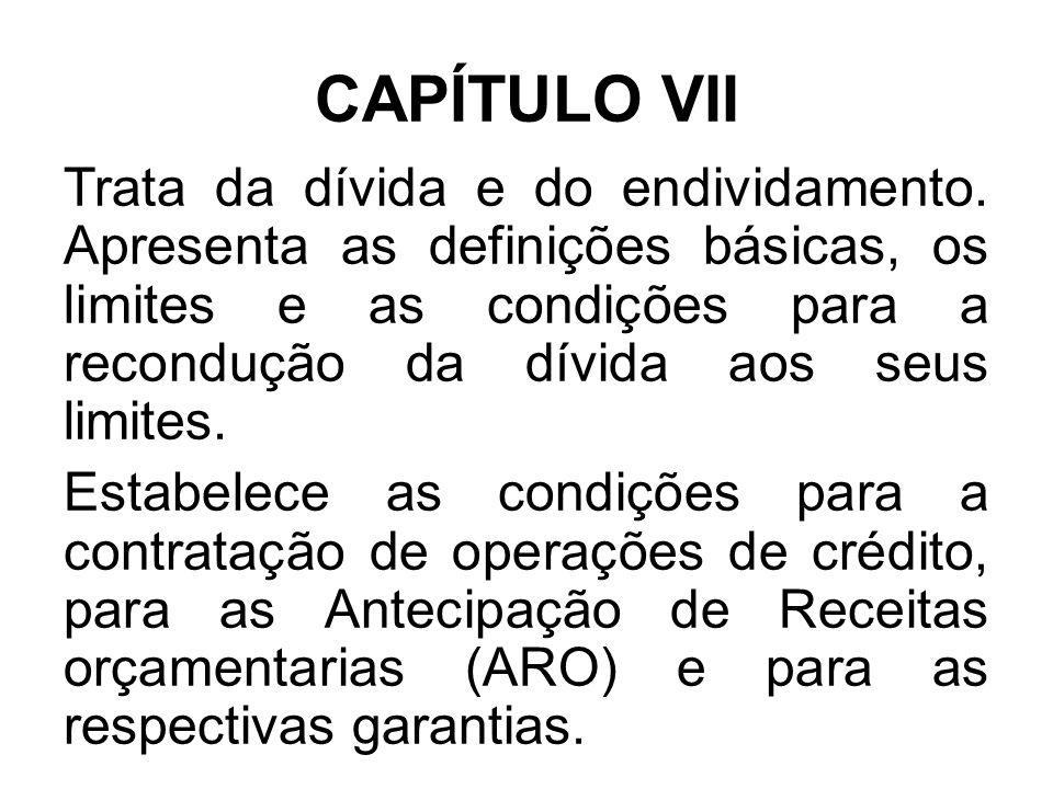 CAPÍTULO VII
