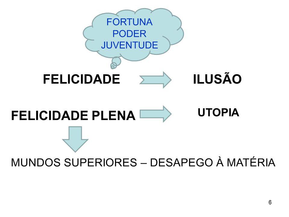 FELICIDADE ILUSÃO FELICIDADE PLENA UTOPIA