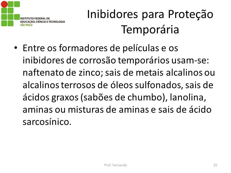 Inibidores para Proteção Temporária