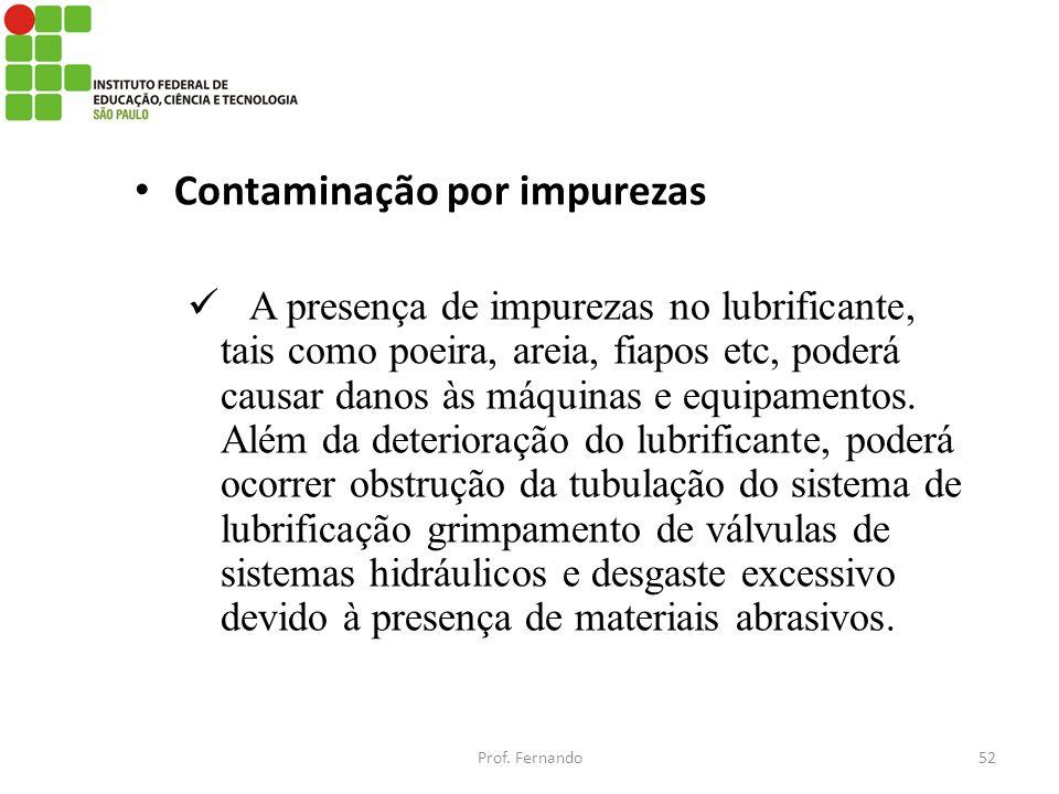 Contaminação por impurezas
