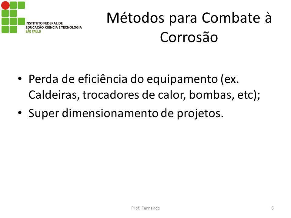 Métodos para Combate à Corrosão