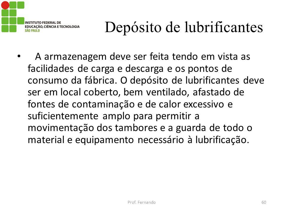 Depósito de lubrificantes