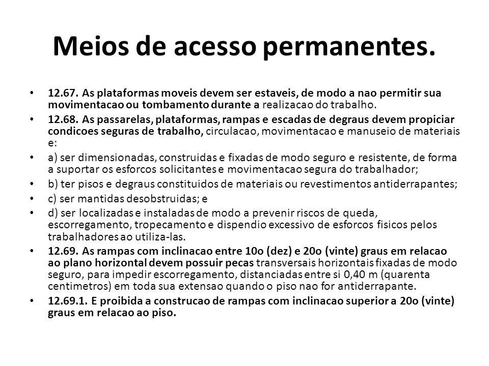 Meios de acesso permanentes.