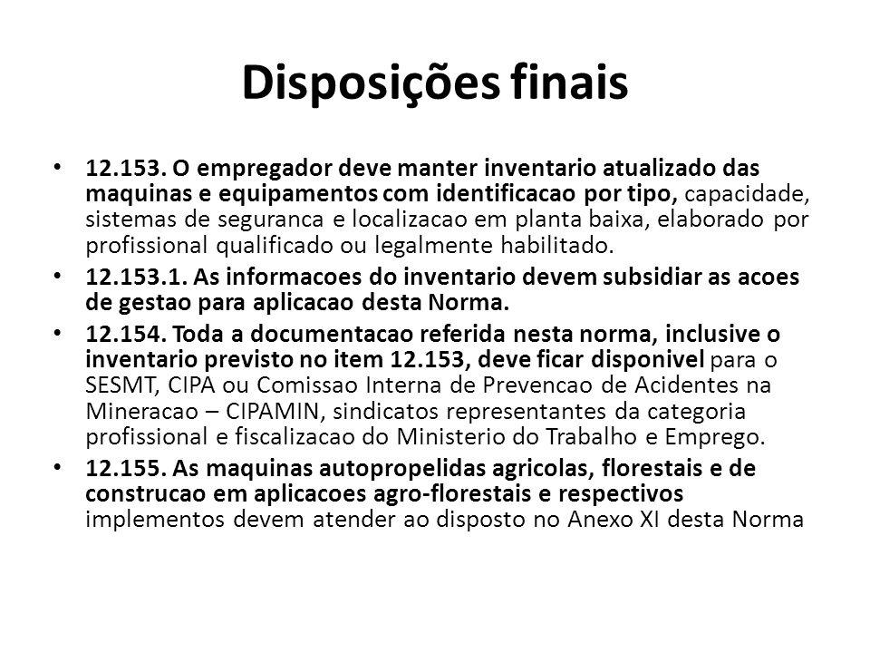 Disposições finais