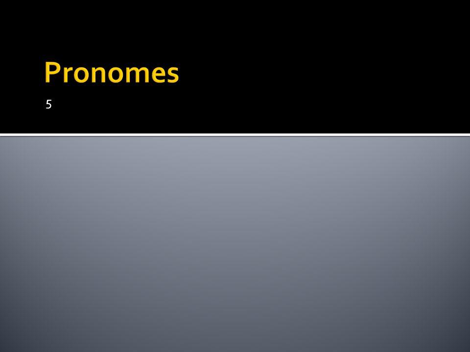 Pronomes 5