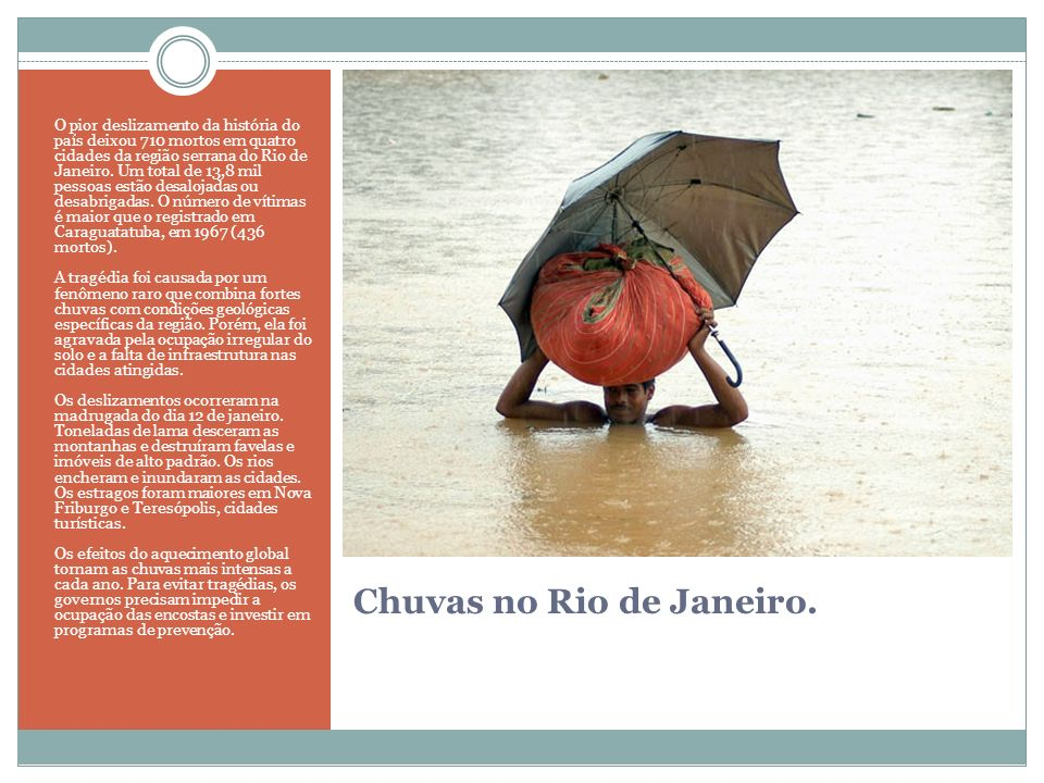 Chuvas no Rio de Janeiro.