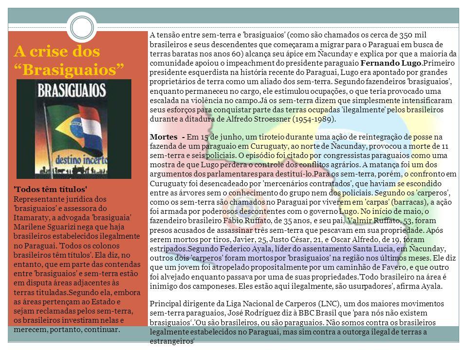A crise dos Brasiguaios