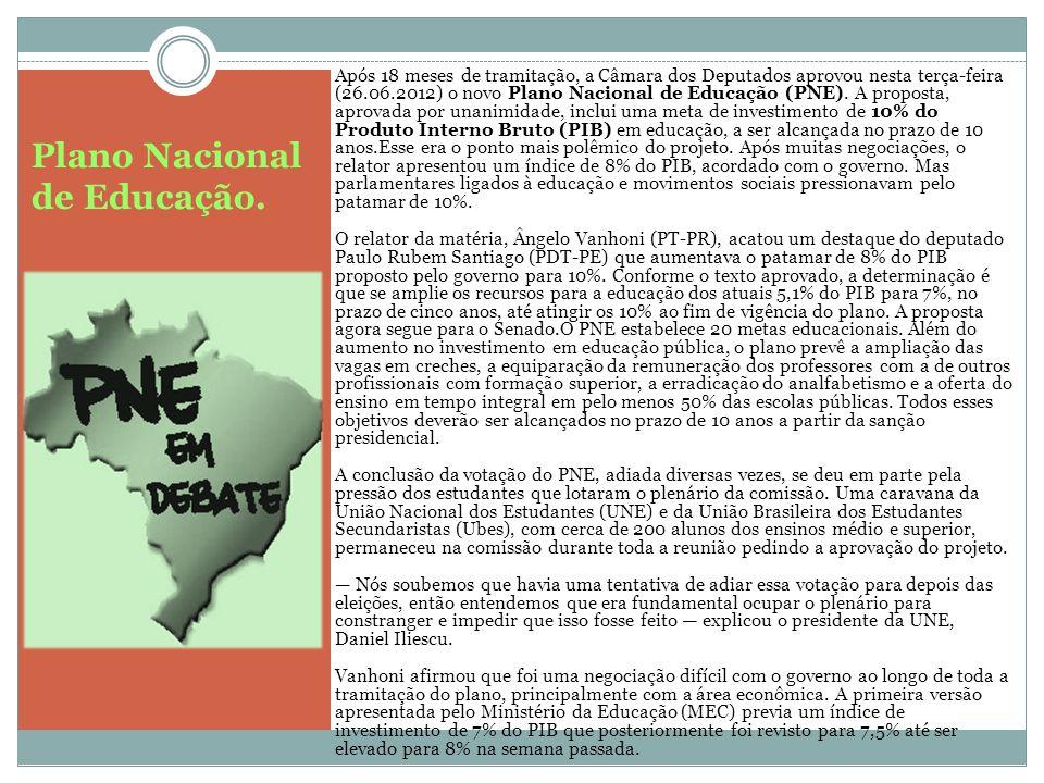 Plano Nacional de Educação.