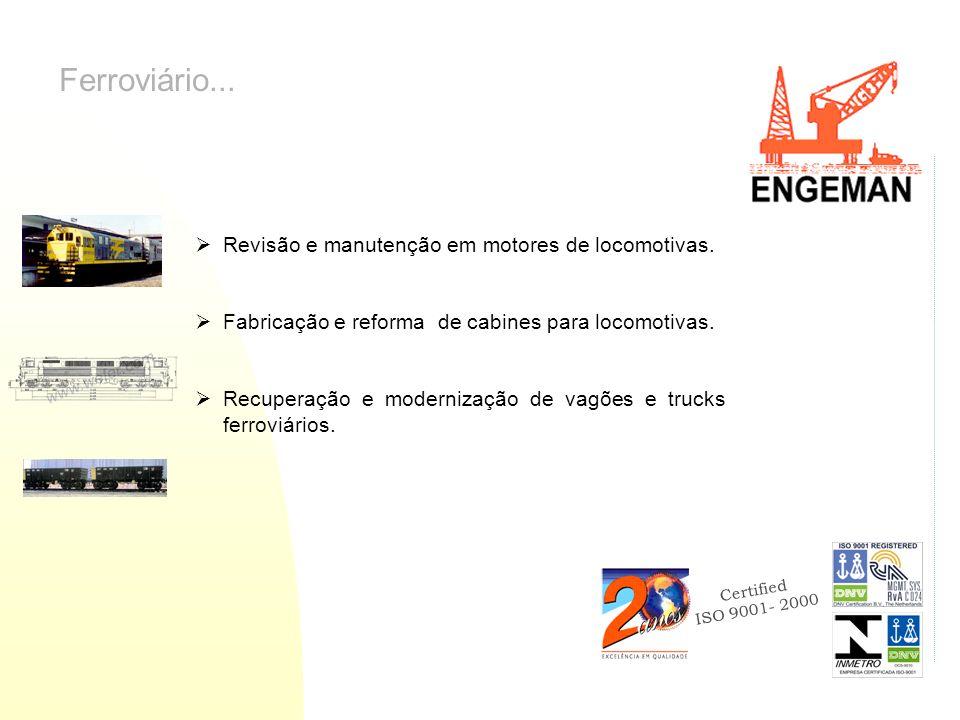 Ferroviário... Revisão e manutenção em motores de locomotivas.