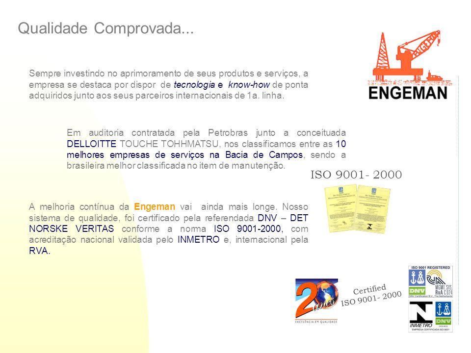 Qualidade Comprovada... ISO 9001- 2000