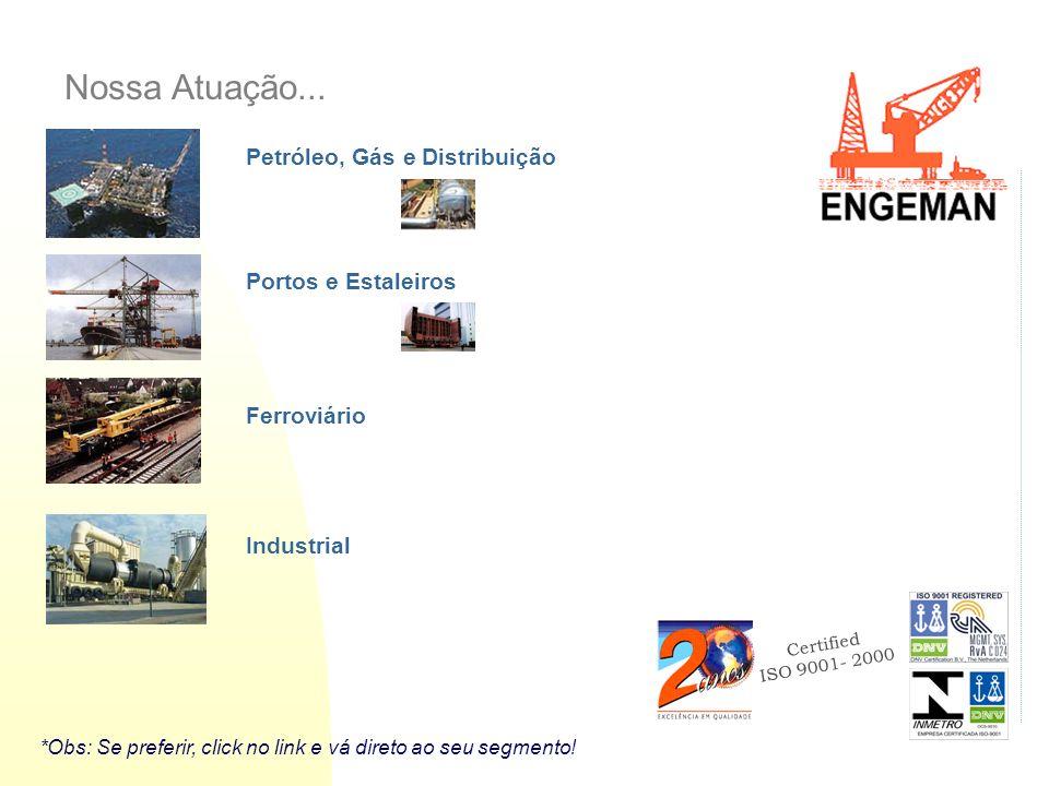 Nossa Atuação... Petróleo, Gás e Distribuição Portos e Estaleiros