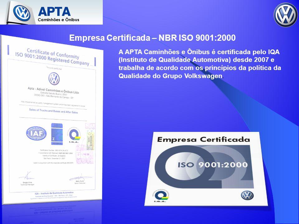 Empresa Certificada – NBR ISO 9001:2000