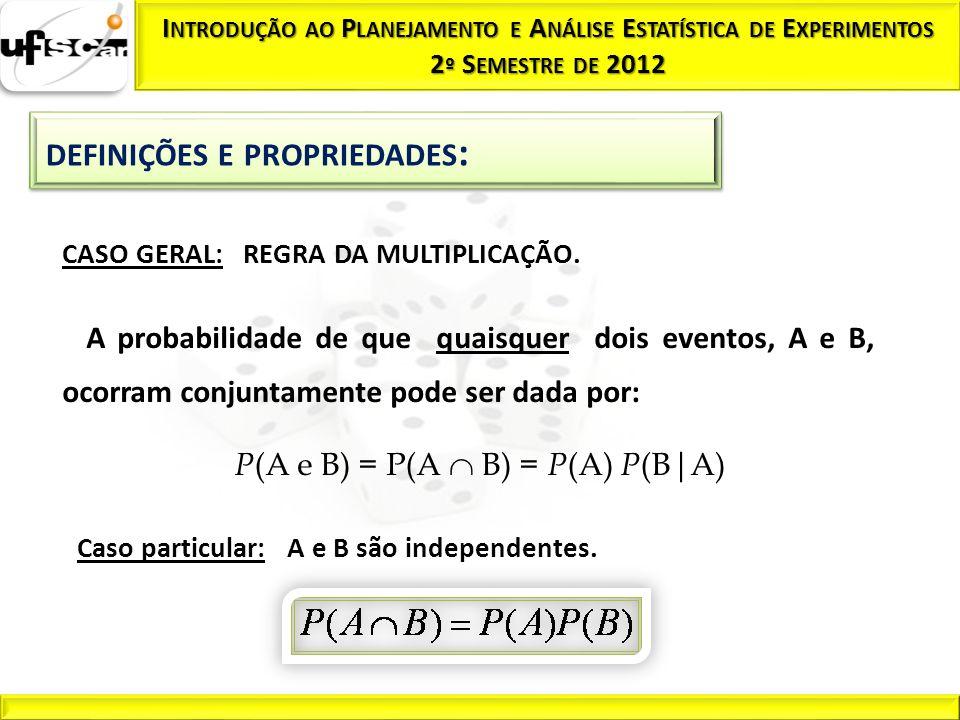 P(A e B) = P(A  B) = P(A) P(B|A)