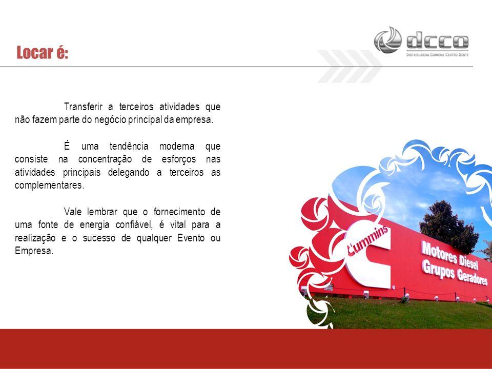 Locar é: Transferir a terceiros atividades que não fazem parte do negócio principal da empresa.