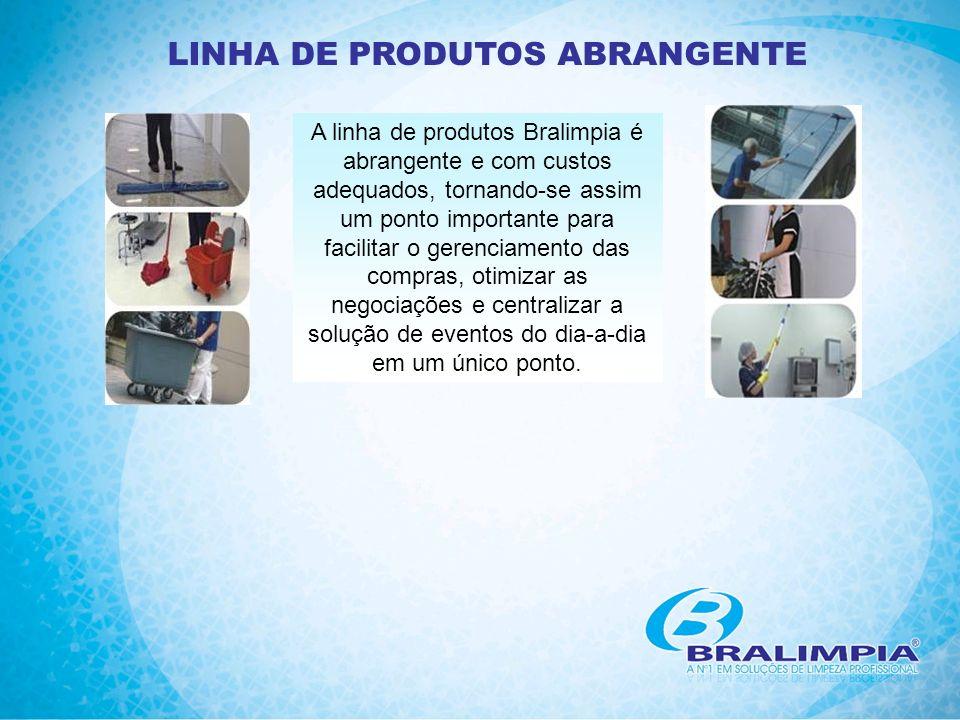 LINHA DE PRODUTOS ABRANGENTE