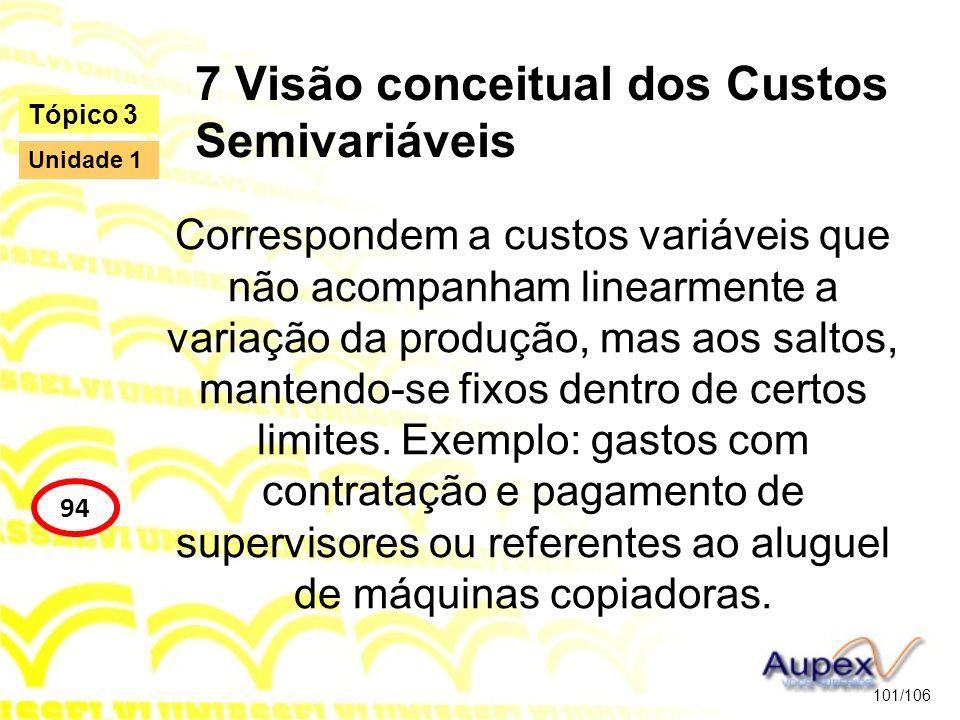 7 Visão conceitual dos Custos Semivariáveis