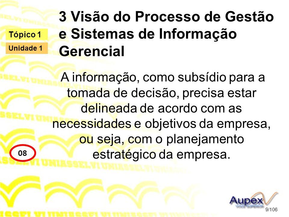 3 Visão do Processo de Gestão e Sistemas de Informação Gerencial