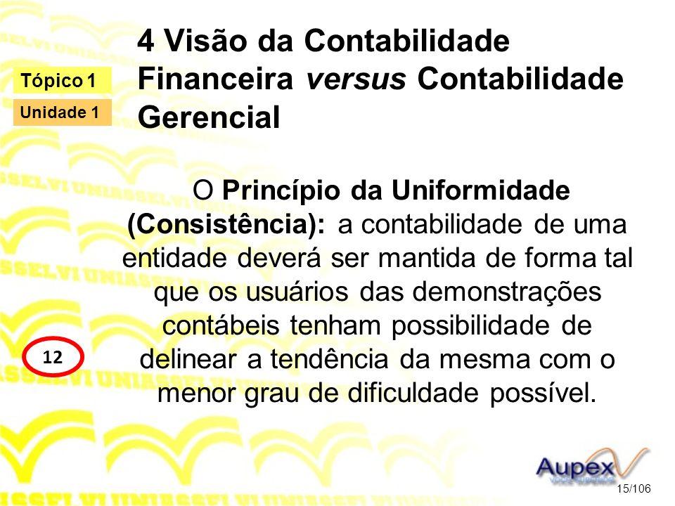 4 Visão da Contabilidade Financeira versus Contabilidade Gerencial