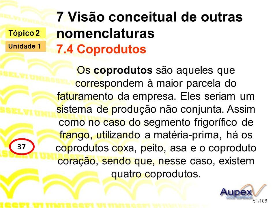 7 Visão conceitual de outras nomenclaturas 7.4 Coprodutos