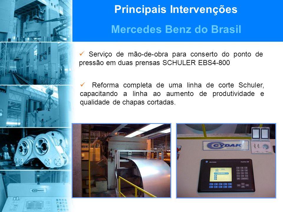 Principais Intervenções Mercedes Benz do Brasil