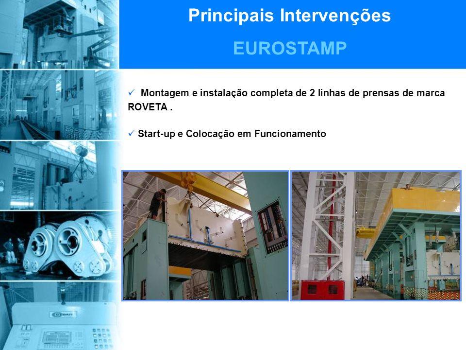 Principais Intervenções