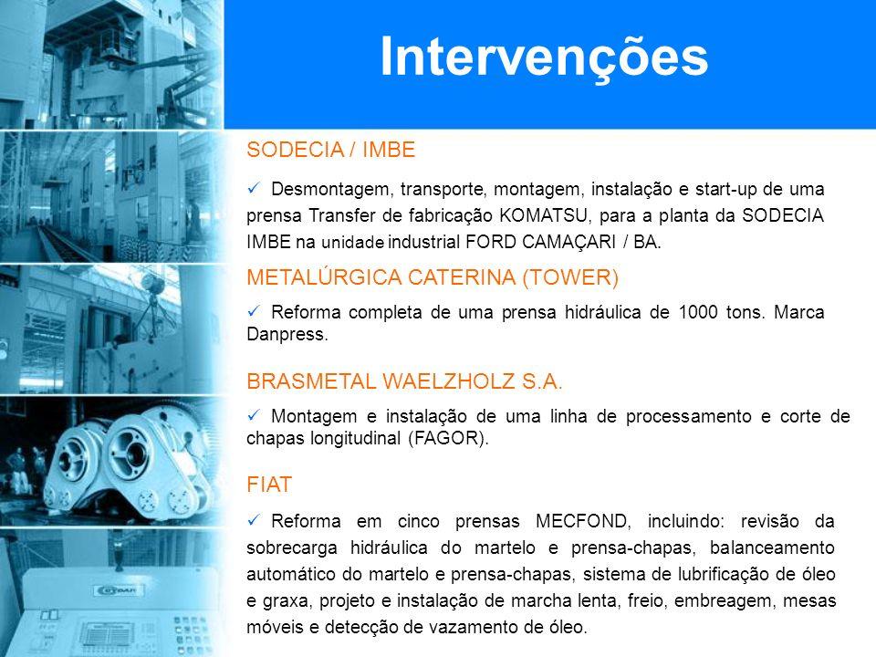 Intervenções SODECIA / IMBE METALÚRGICA CATERINA (TOWER)