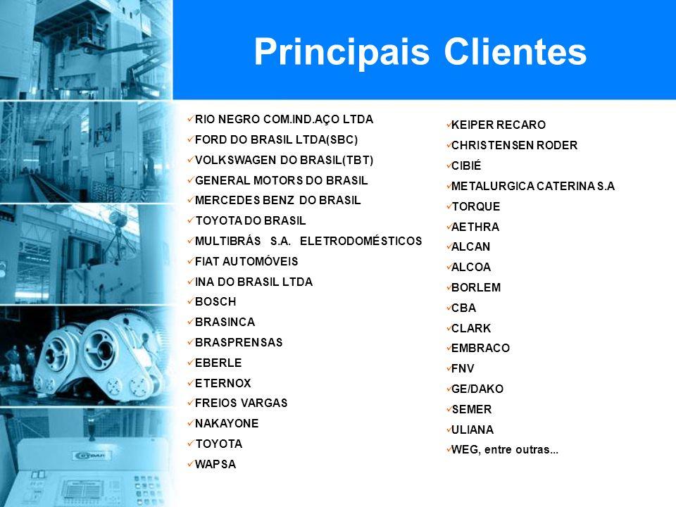 Principais Clientes RIO NEGRO COM.IND.AÇO LTDA