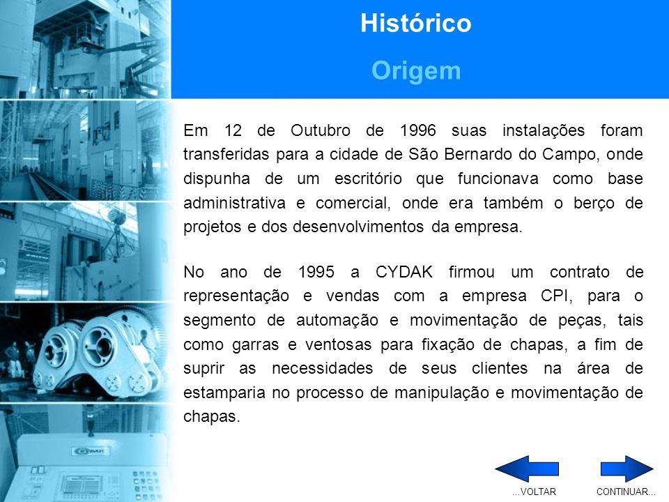 Histórico Origem.