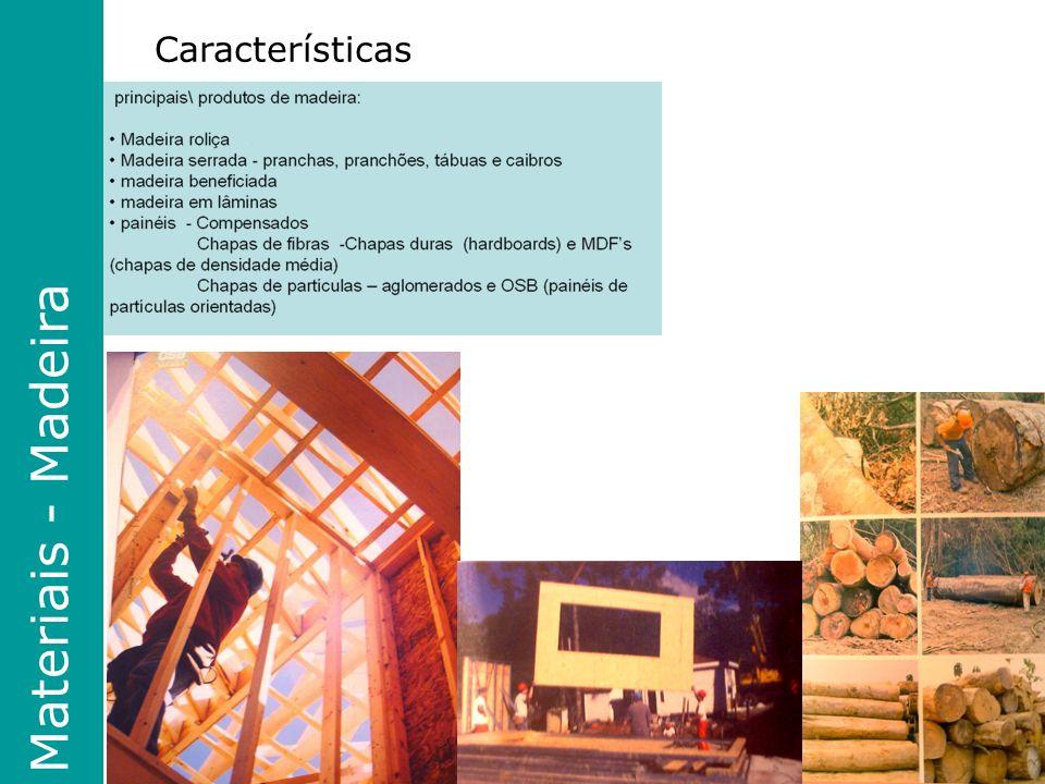 Características Materiais - Madeira