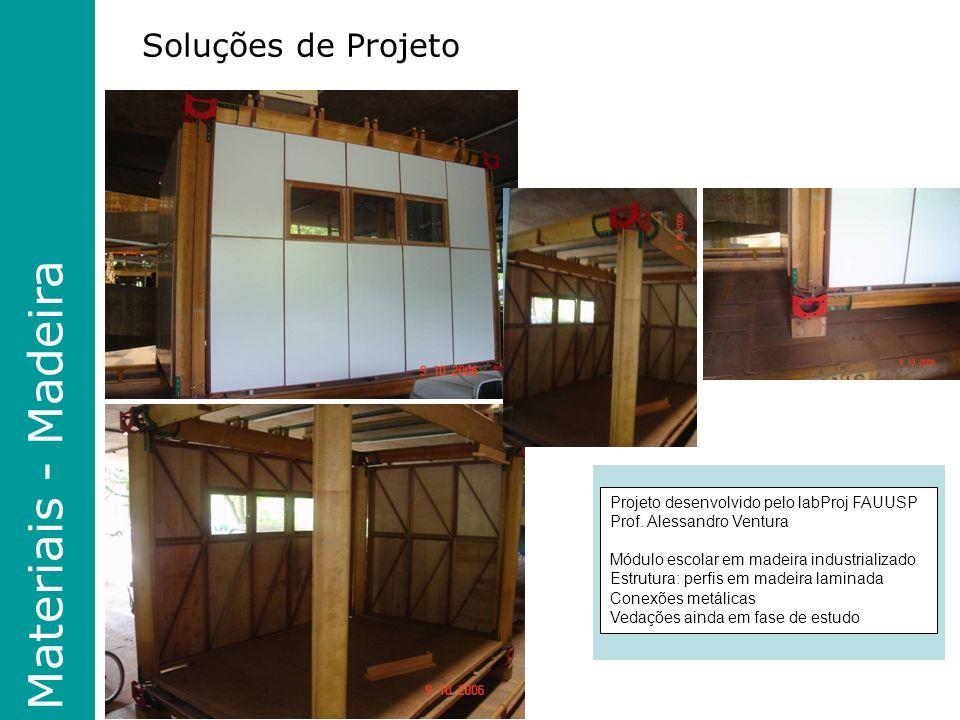 Materiais - Madeira Soluções de Projeto