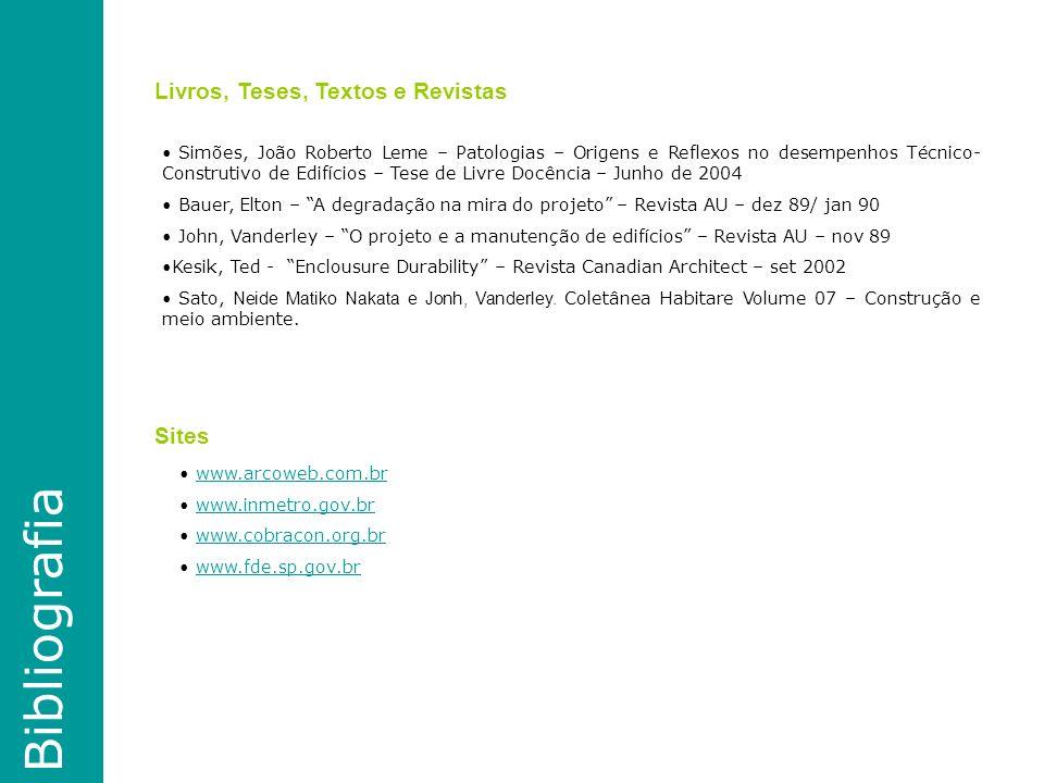 Bibliografia Livros, Teses, Textos e Revistas Sites