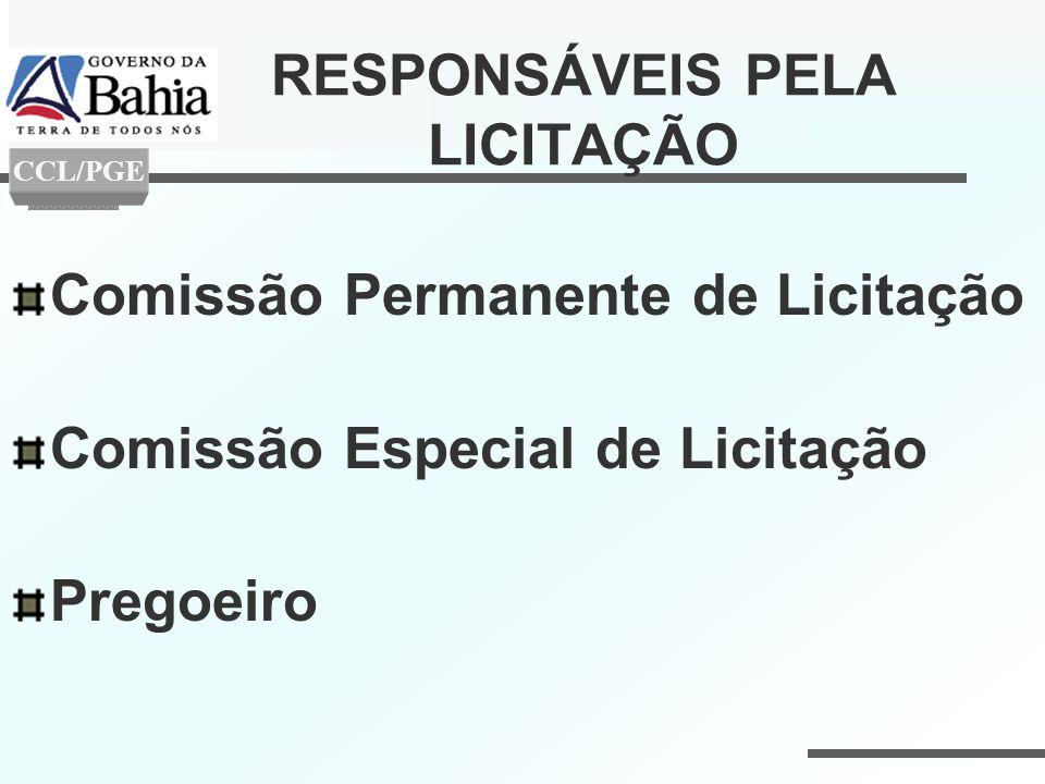 RESPONSÁVEIS PELA LICITAÇÃO