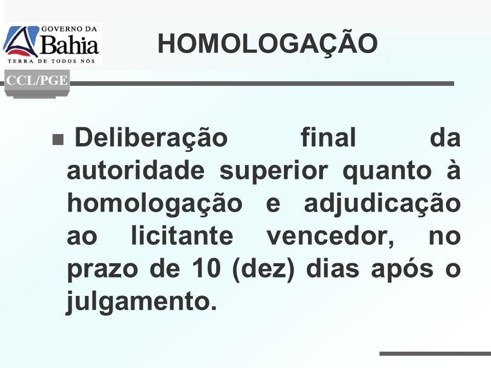 HOMOLOGAÇÃO CCL/PGE.