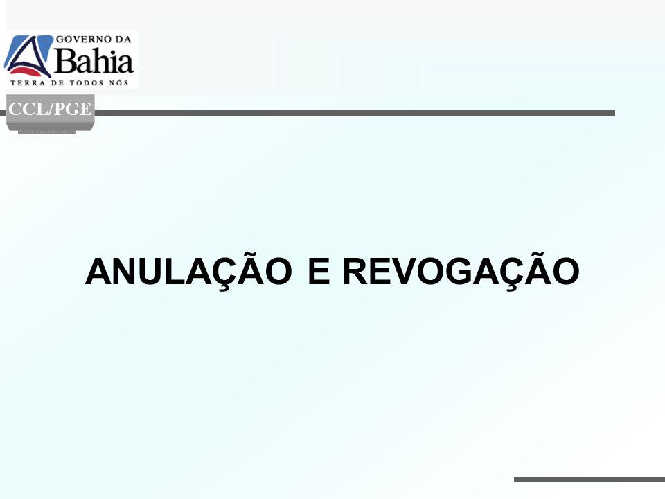 CCL/PGE ANULAÇÃO E REVOGAÇÃO