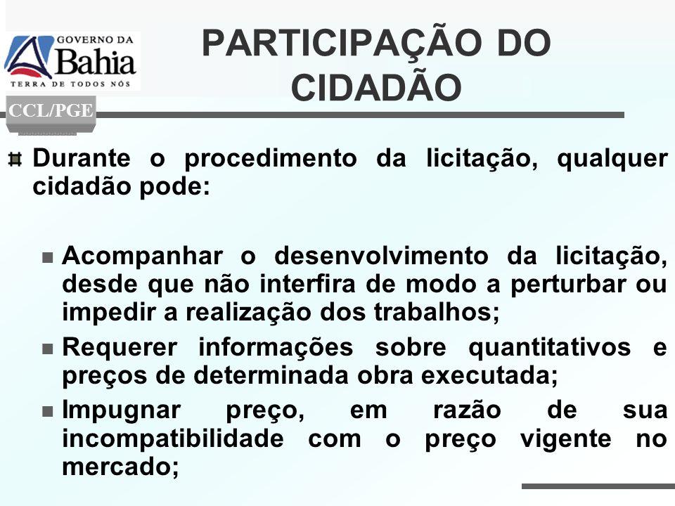 PARTICIPAÇÃO DO CIDADÃO