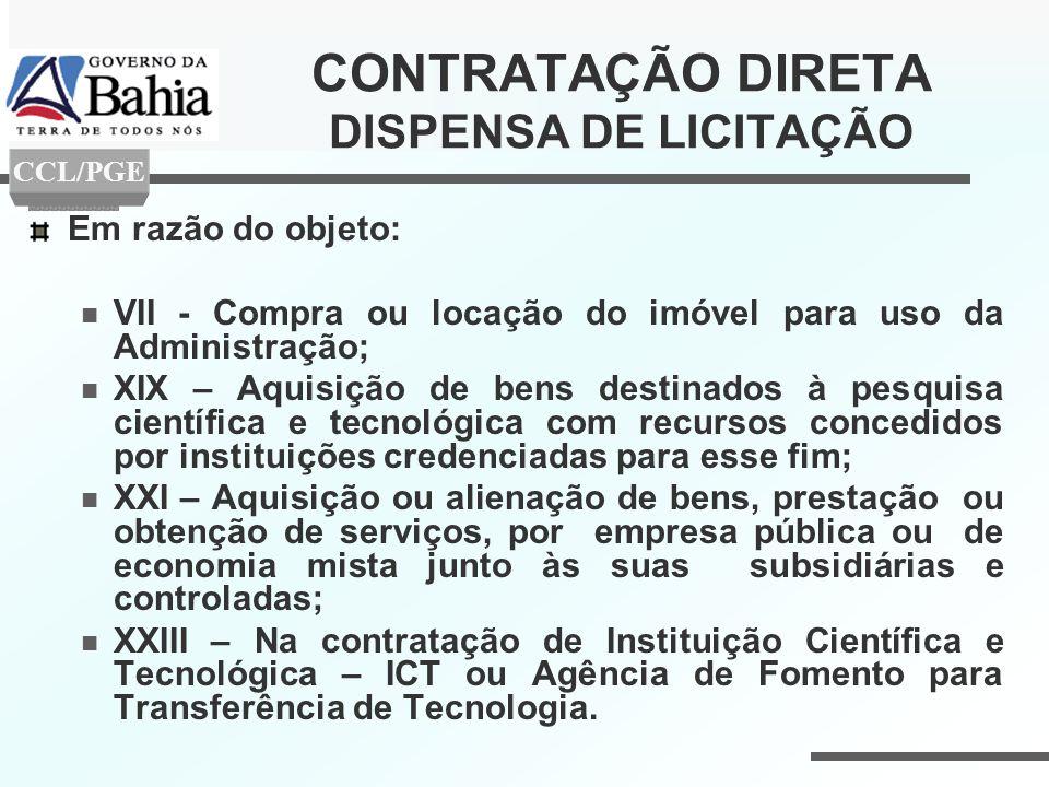 CONTRATAÇÃO DIRETA DISPENSA DE LICITAÇÃO