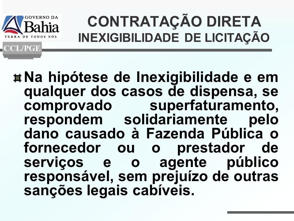 CONTRATAÇÃO DIRETA INEXIGIBILIDADE DE LICITAÇÃO