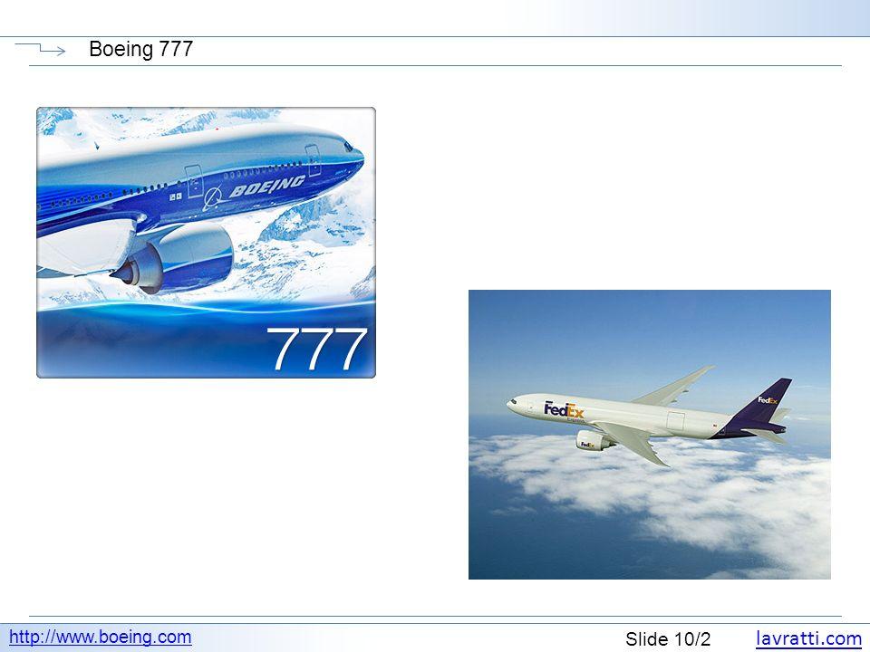 Boeing 777 http://www.boeing.com