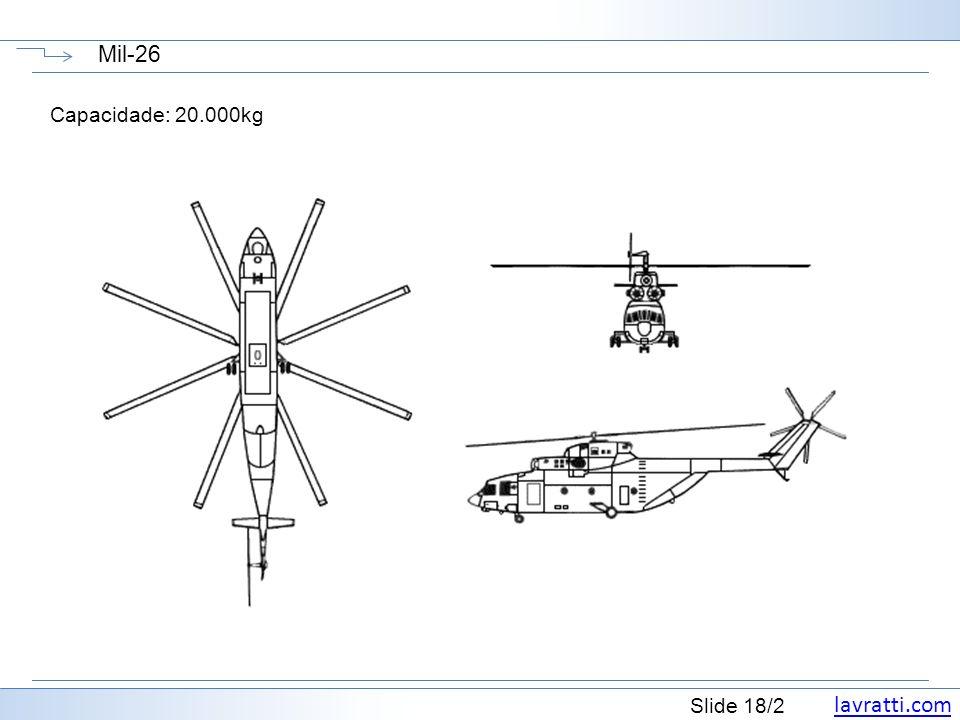 Mil-26 Capacidade: 20.000kg