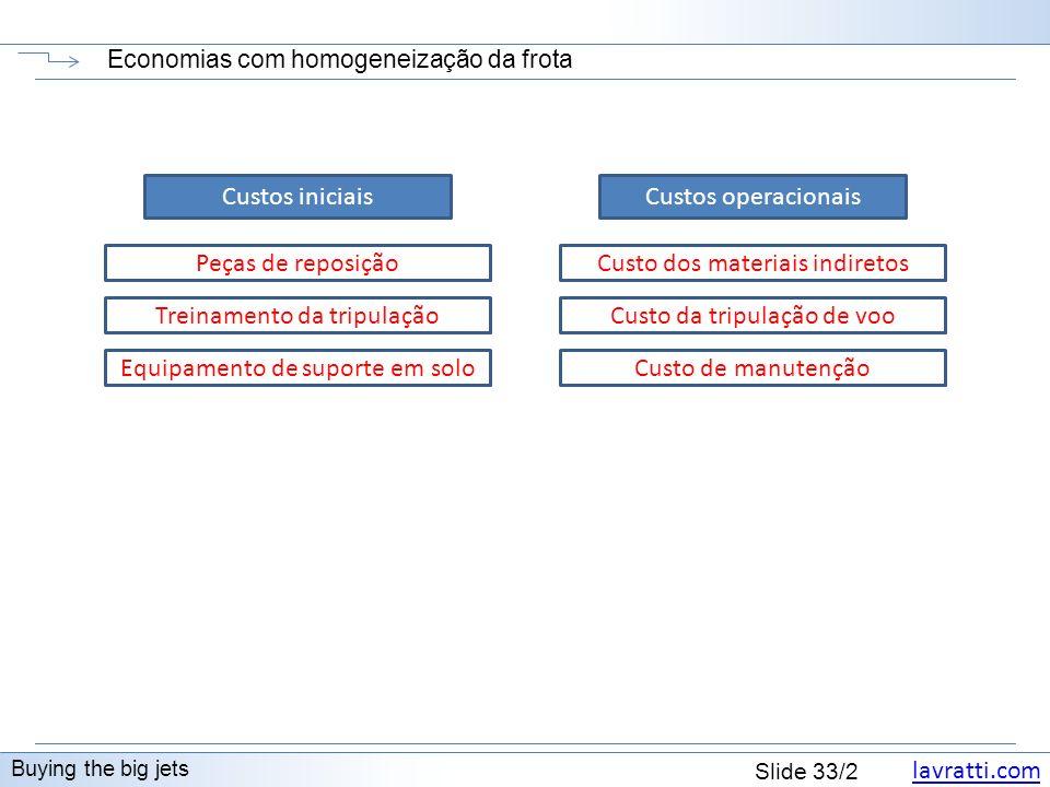 Economias com homogeneização da frota