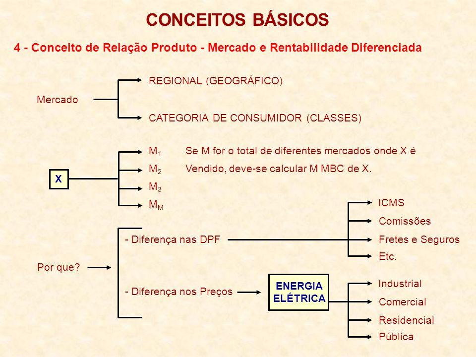 CONCEITOS BÁSICOS 4 - Conceito de Relação Produto - Mercado e Rentabilidade Diferenciada. REGIONAL (GEOGRÁFICO)