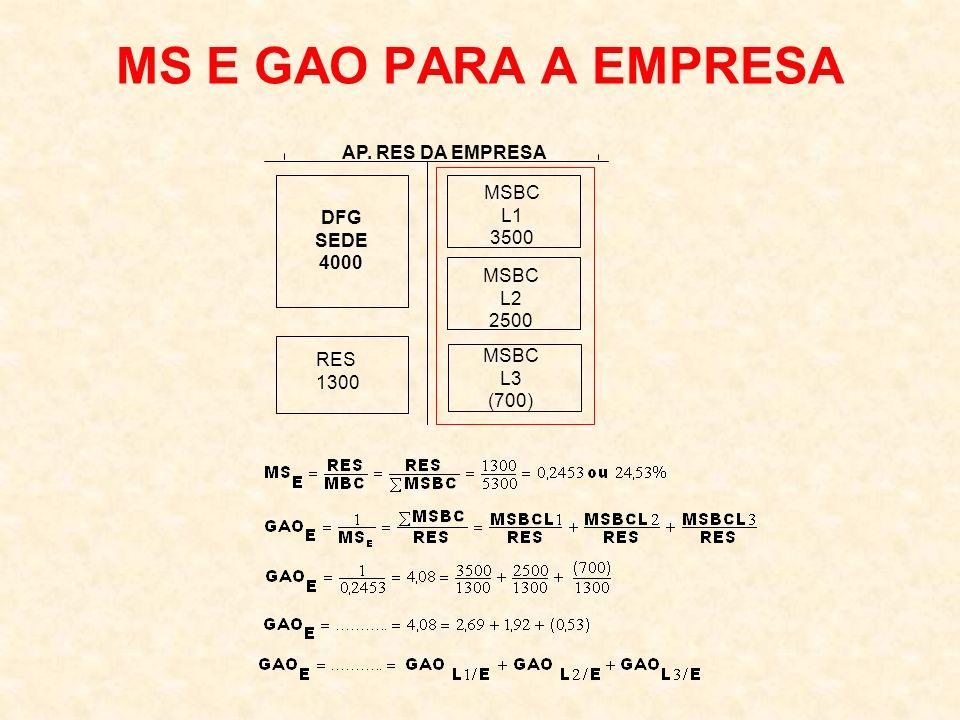 MS E GAO PARA A EMPRESA AP. RES DA EMPRESA MSBC L1 DFG 3500 SEDE 4000