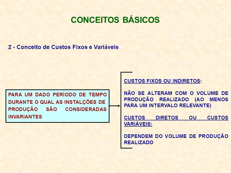 CONCEITOS BÁSICOS 2 - Conceito de Custos Fixos e Variáveis