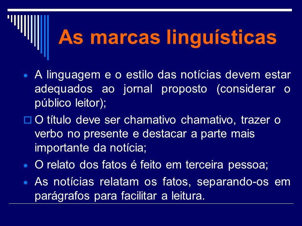 As marcas linguísticas