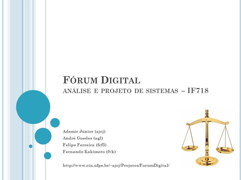 Fórum Digital análise e projeto de sistemas – IF718